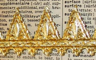 Collage Stuff German Scrap Dresden Trim Gold Embossed Foil